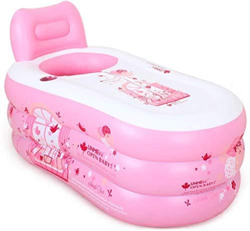 QZz Home® Bañera inflada para adultos y hogares, barriles de baño de plástico para niños y niños, bañera de polvo grande y grueso (color 150 cm)