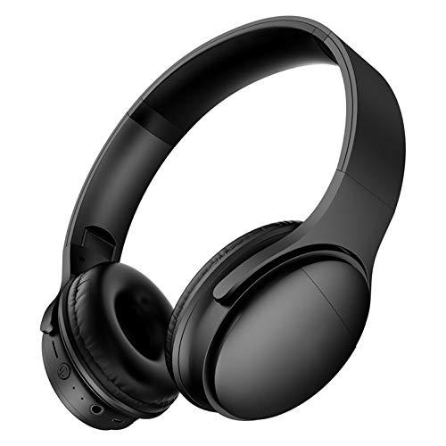 ヘッドマウントワイヤレスBluetoothヘッドセットは、スポーツは、長いバッテリ寿命を実行して、ゲームのノイズキャンセルヘッドセットマイクロSD/TF、携帯電話用FM、PC black