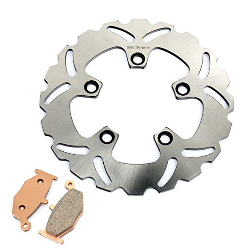 TARAZON Moto Rotor Disco de Freno Trasero y Pastillas para S.u.z.u.k.i GSXR 1000 K7 K8 08 GSXR 600 750 K4-K9 06-10