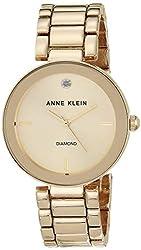 professional Anne Klein AK / 1362CHGB Ladies Watch, Diamond Dial and Gold Bracelet