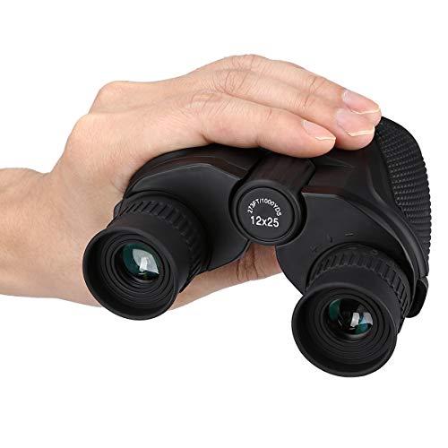 Outdoor Wasserdicht 12x25 Fernglas Große Okulare (BAK4, Grün Lens) Ultraklar High-Power für die Jagd Wandern Erkunden Anzeigen und Segeln