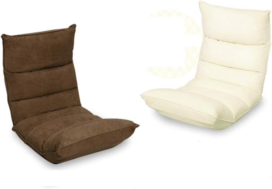 DSFHH Réglable Pliable Sofa Back Support Siège simple Recliner Créativité Nordic Velvet Fabric Bay Window Chaise étage Chaise amovible et lavable (Color : Marron) Black