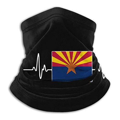 XCNGG Máscara Facial Arizona Heartbeat-1 para Hombres y Mujeres, Bandana sin Costuras para esquí y Snowboard