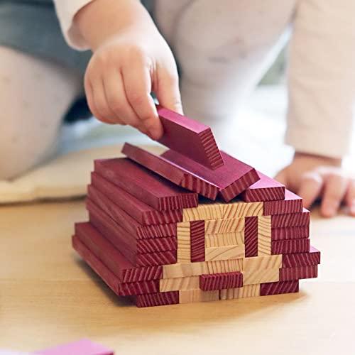 Kapla 9000160 Holzplättchen 40-teilig in Box, violett - 7