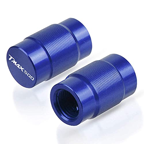 2 Piezas Moto Tapones de Válvula Compatible con Yamaha T-MAX T MAX TMAX 500 Tmax500 XP500 2012-2000, Tapones de Válvulas Tapa de Neumático a Prueba de Polvo Cilíndrico