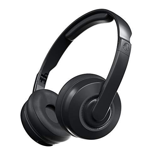 Skullcandy Cassette Kabellose On-Ear Bluetooth-Kopfhörer mit Mikrofon, Bis zu 22 Stunden Akkulaufzeit mit Abnehmbarem AUX-Kabel und Zusammenklappbarem Design, Schwarz/Grau