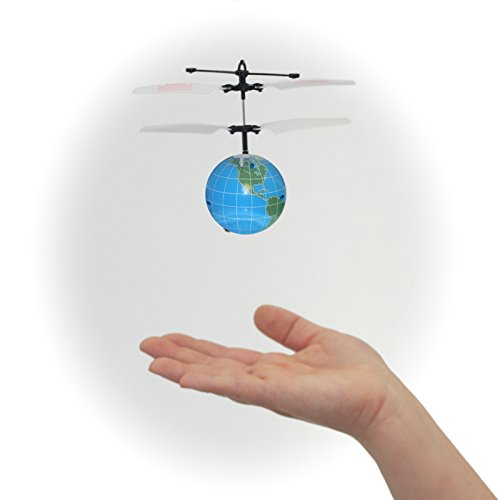 MukikiM Mini Flyer - The World! Watch it hover, float and fly like magic. Have the whole world in your hands! BRAND NEW STYLE 2016 (Newest version featuring USB charging!)