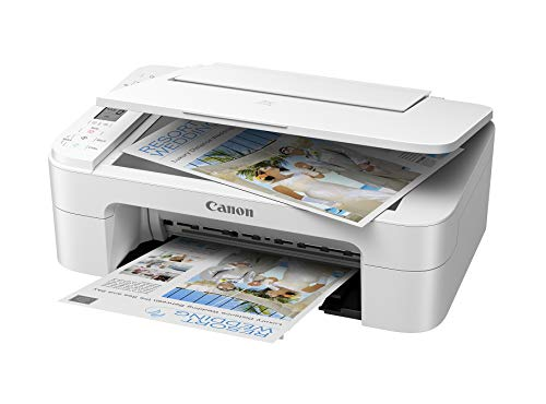 Canon PIXMA TS3321 Wireless Color Inkjet All-in-One Printer - Print, Scan and Copy for Home Office - up to 4800 x 1200 Resolution, 1.5 Segment LCD Display - White, BROAGE Printer Cable