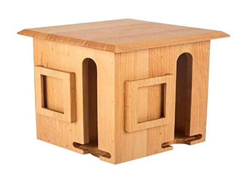 EP OWX Holz Buche Baum Rotierenden Tee Box C3012