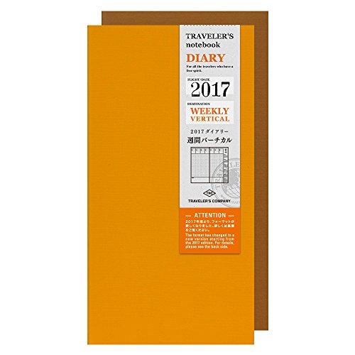 『トラベラーズノート 手帳 リフィル 2017 バーチカル A5スリム 14376006』の1枚目の画像
