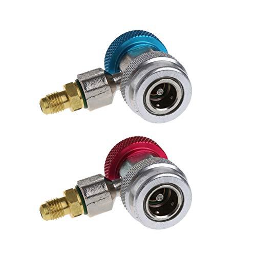 SSGLOVELIN 2 stücke Auto Auto Freon R134A H/L Schnellkupplungsadapter Klimaanlage Kältemittel Einstellbare A/C-Verteilermessung (Color : 1)