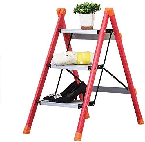 GBX Taburete Plegable Fácil Y Multifunción, Escalera Plegable Taburete Escalera Escalera Plegable Doméstica Escalera Aislante Escalera de Tres Escalones Taburete Escalera Aislante de Fibra de Vidrio