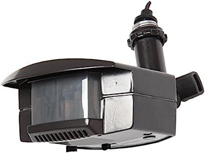 Lithonia Lighting OMS 1000 120 DDB M6 180-Degree Detection Zone Bronze Outdoor Motion Sensor Retrofit Kit, Black Bronze