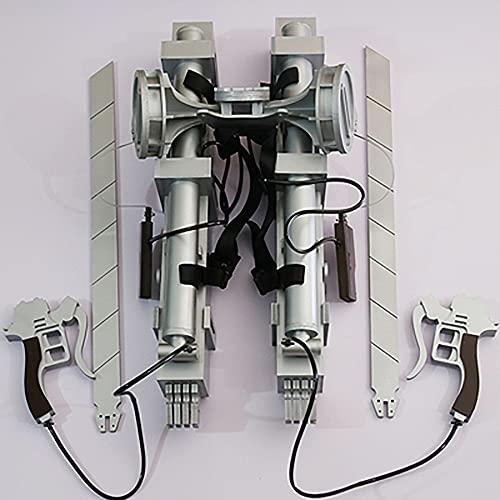 Ataque a los titanes Capitán Mikasa Dispositivo móvil tridimensional Thunder Gun Arma Accesorios de cosplay Decoración de cuchillas Juguetes Mikasa Ackerman y Levi Ackerman Accesorios no extraíbles