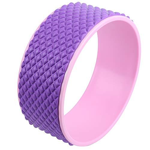 ヨガホイール、持ち運びが簡単耐久性のある初心者ヨガホイール、ヨガ愛好家のための安定したパフォーマンスフィットネスエクササイズ体力トレーニングスポーツ(purple)
