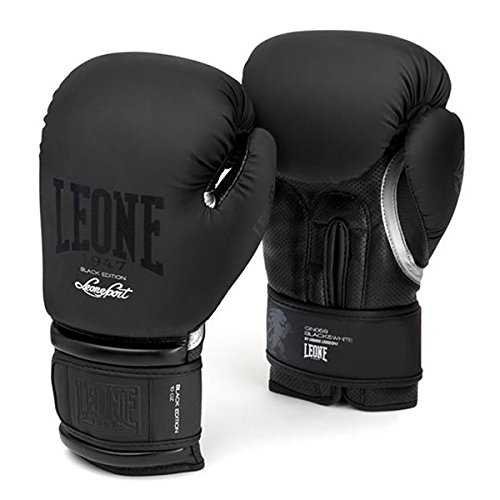 LEONE 1947 GN059 Guantes Boxeo Mujer Negro 10M