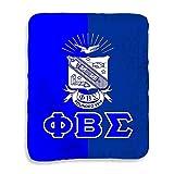 Greekgear Phi Beta Sigma Two Tone Sherpa Lap Blanket