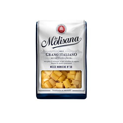 La Molisana, Mezze Maniche n.38 Pasta Corta, SOLO Grano Italiano - 500g