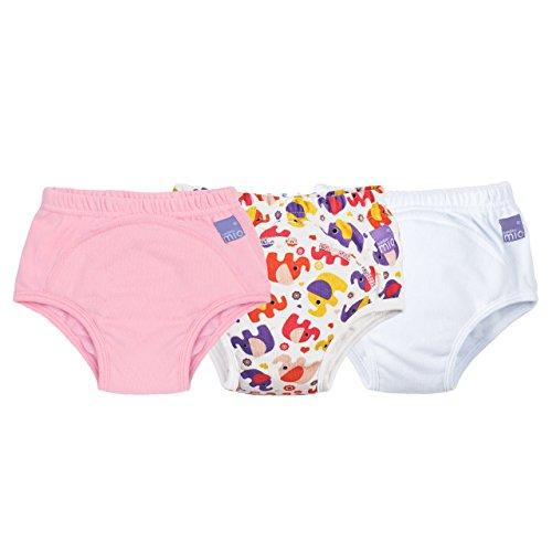 Bambino Mio, Trainingshose, Mädchen Mixed Elefant Pink, 2-3 Jahre (3er Packung)