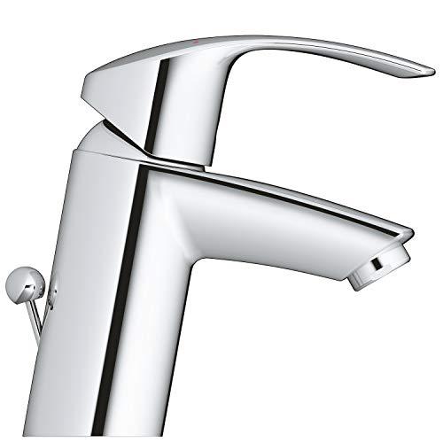 Grohe Eurosmart Waschtischarmatur, mit Zugstange, S-Size, Wasserhahn, Armatur, Waschtischarmatur, Waschbecken, Mischbatterie, Wasserkran (33265002) - 2
