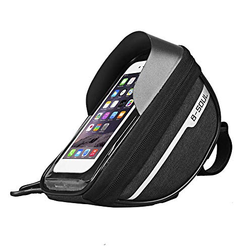 B-Soul Waterproof Cycle Frame Bag with Touch Screen, Bicycle Pouch, Cycle Bag, Cycle Accessories, Handlebar Saddle Bag, Cycle Mobile Holder for All Phones Under 6.5 inches.