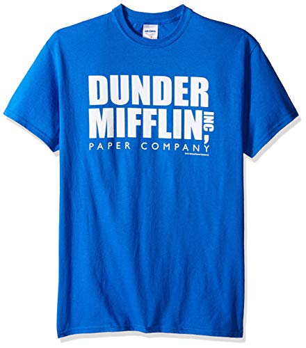 sea Men's The Office TV Series Dunder Mifflin Logo Graphic T Shirt Camisetas y Tops(Small)