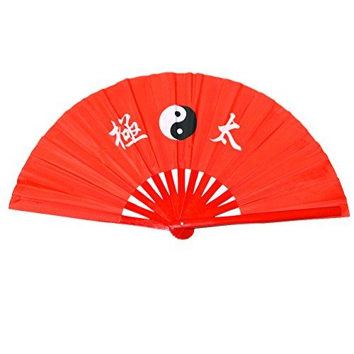Abanico plegable de bambú, para práctica de artes marciales, estilo chino