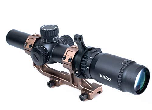 Viiko Long Eye Relief Scope 1-5x24 LPVO Half Mildot Reticle 7.6' Eye Relief Fits Mosin 1891/30 M39 M44 Huge Eye Box Switch Viewer