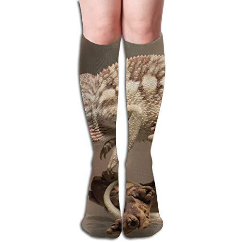 Rasyko Cameleon Lizard Chaussettes Unisexe Confortables pour Course à Pied, Sports athlétiques et Voyages