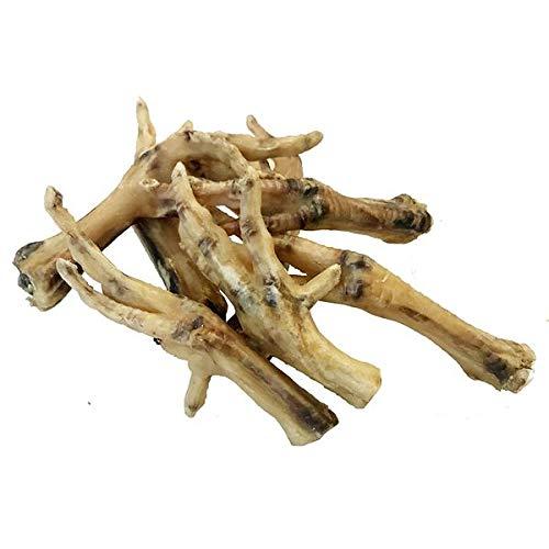 Patas de Pollo deshidratadas para Perros (500g) | 100% Natural, crujientes y deliciosas | Ideales Cualquier ocasión | 2 bolsitas Zip de 250g