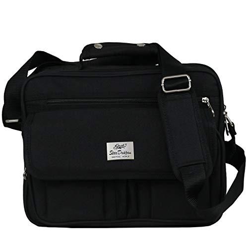Schultertasche Citybag Flugbegleiter Ausweistasche Umhängetasche Business Messenger Bag Tasche Black NEU (Modell 6)
