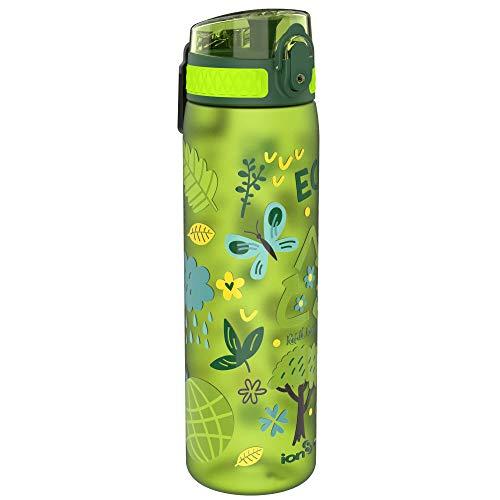 Ion8 Botella Agua Sin Fugas, Sin BPA, 600ml, Ecología