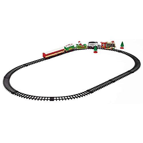 Nrpfell El Juguete de Tren Eléctrico de Navidad Juego de Juego Regalo con Luz y Sonidos de Locomotora de Conjuntos de Trenes de Bebé una Casa para Ni?os
