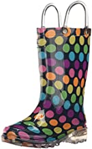 Western Chief Kids Girls' Waterproof Rain Boots That Light up with Each Step, Darling Dot, 1 M US Little Kid