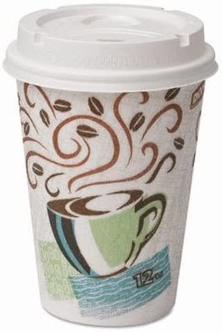 Dixie Paper Hot Cups with Lids 12 oz - Coffee Design Beauty products Popular product Incl Haze