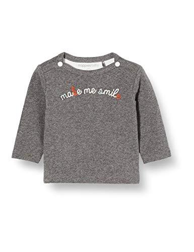 Noppies Baby-Unisex U ls Amirim T-Shirt, Grau (Dark Grey Melange P477), (Herstellergröße: 62)