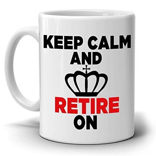 Grappige Pensioen Gag Gift Mok Party Decoratie benodigdheden Houd kalm en Geheel Op Koffiebeker, Gedrukt op beide zijden!