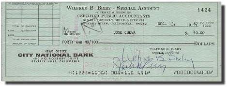 WILFRED BILL BIXBY Incredible Hulk Note - Max 68% OFF Check Signed Free Shipping New Bank