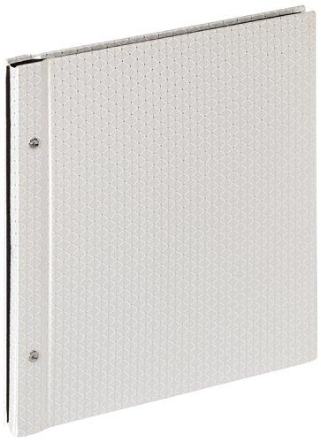 walther SBL-151-W Buchschraubenalbum Sinfonia Glamour Stoffeinband, 30 x 33 cm, weiß