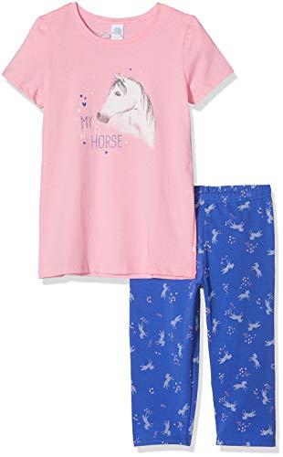 Sanetta Sanetta Mädchen Pyjama Short Zweiteiliger Schlafanzug, Rosa (Scampi 3950), 104