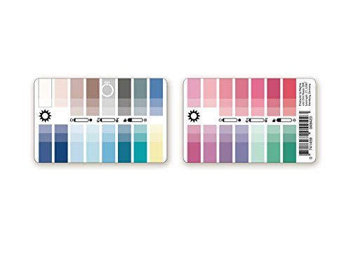 Handlicher Karten-Farbpass Sommer (Light Summer) aus Plastik mit 30 typgerechten Farben zur Farbanalyse, Farbberatung, Stilberatung