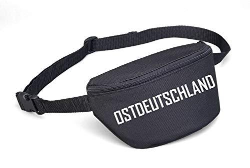 Bauchtasche - OSTDEUTSCHLAND - Blockschrift Schwarz