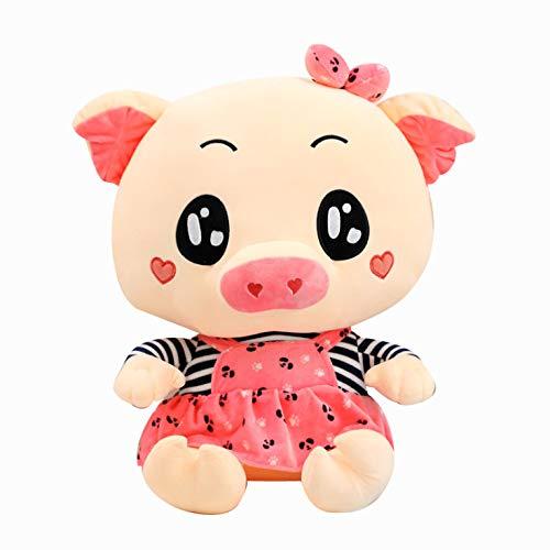 ditiaoPlush Nettes Paar Schwein Plüschtier,Puppen Latzhose Schwein Kinder Puppe,Freundin Kinder Geburtstagsgeschenk 45Cm Zu Senden