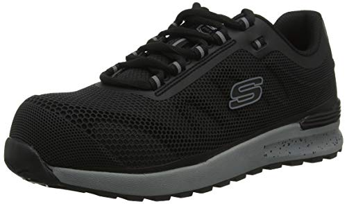 Skechers BULKLIN LYNDALE, Men Low-Top Trainers, Black (Black Blk), 8 UK (42 EU)