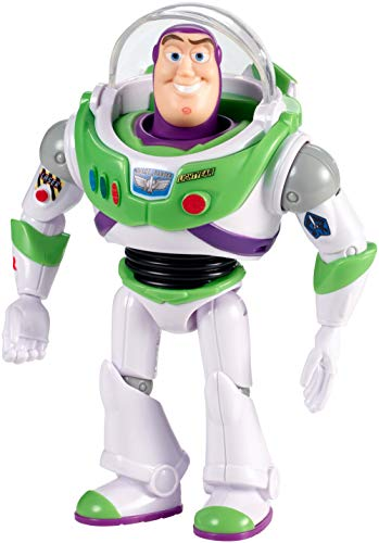 Toy Story- 4 Disney Pixar Buzz Lightyear con Visore Personaggio Articolato da 18 cm, Giocattolo per Bambini di 3+ Anni, GGX30