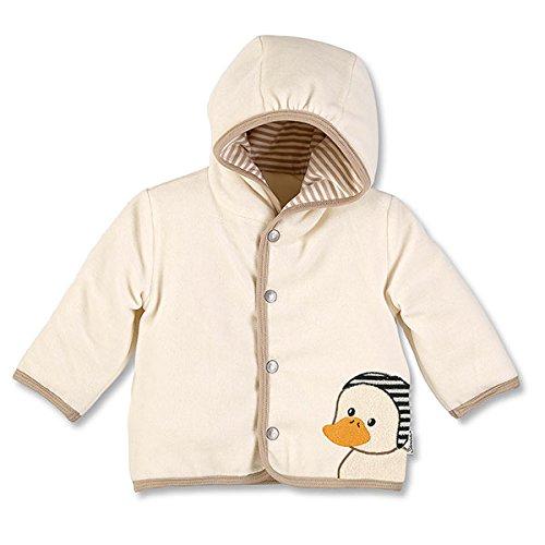 Sterntaler Veste à capuche Nicki Hanno pour bébés, Âge: 0-2 Mois, Taille: 50, Ecru (Beige)