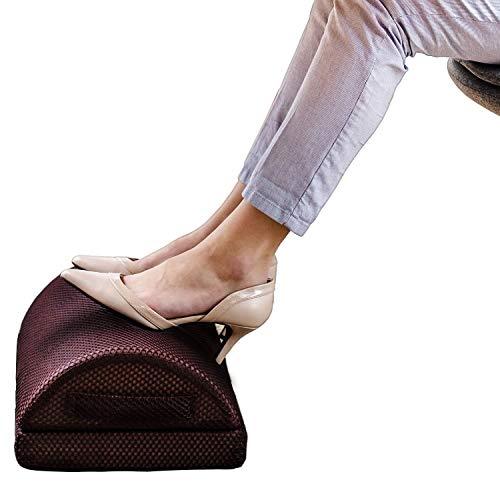 Urbo Ergonomische Fußstütze Schreibtisch– Fußablage Büro & Zuhause, Perfekt für müde Füße, Gelenkstütze, Schmerzreduzierung, Verbesserung der Haltung & Zirkulation, mindert Beinvenenthrombose