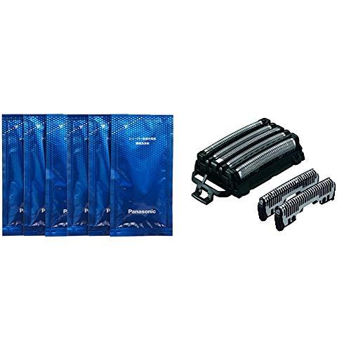 【セット買い】パナソニック シェーバー洗浄剤 ラムダッシュ洗浄充電器用 6個入り ES-4L06A & 替刃 メンズシェーバー用 セット刃 ES9032
