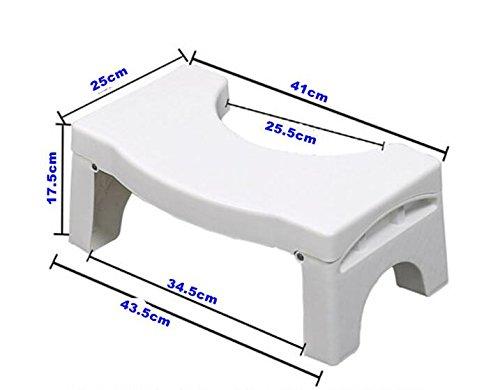 Klappbarer Hocker für die Toilette Medizinisch getestet und bewährt, um Stuhlgang zu helfen Anti-Rutsch