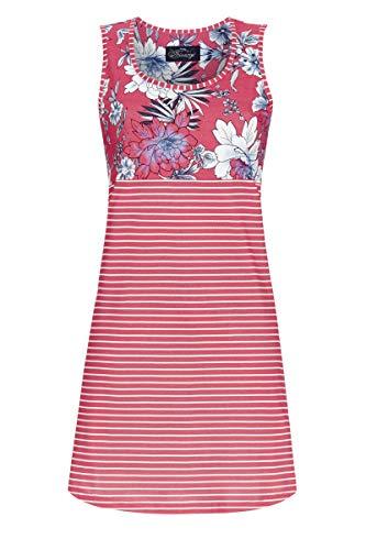 Ringella Bloomy Damen Nachthemd mit geblümter Passe Summer red 38 1251005,Summer red, 38